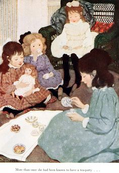 'A little princess' being the whole story of Sara Crewe, now told for the first time by Frances Hodgson Burnett; with illustrations in colors by Ethel Franklin Betts. Published 1905 by Charles Scribner's Sons, New York.