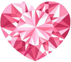 """Pink, Crystal Heart, Vector done in via Illustrator. Created it as practice using tools in the software. It's also a """"Free to Use but Credit Back"""" Resource. Vector Art, Adobe Illustrator, Objects, Deviantart, Texture, Crystals, Create, Gallery, Illustration"""