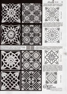 """""""crochet lace lacy granny square by lesa"""", """"Use imgbox to upload, host and share all your images. Filet Crochet, Crochet Diagram, Crochet Chart, Thread Crochet, Crochet Stitches, Crochet Motif Patterns, Crochet Blocks, Square Patterns, Crochet Squares"""