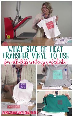 Heat Transfer Vinyl Design Sizing Charts Tshirt Onesies Polo - How to make vinyl decals for clothing