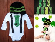 Get the Set St Patricks Day Boys Black and Green by shopantsypants, $34.00 - maybe for his first St. Patty's