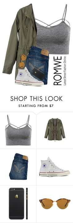 """Contest Entry"" by pastelsummer ❤ liked on Polyvore featuring Hollister Co., Converse and Ray-Ban"