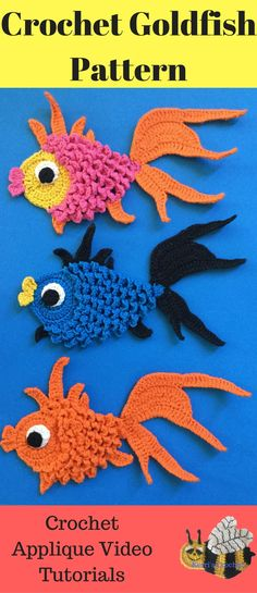 Crochet Goldfish Pattern. Free crochet pattern with a video tutorial on how to crochet.