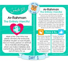 Tariq Teaches Allah's Names – Day 1 – Ar-Rahman Ramadan Activities, Name Activities, Ramadan Day, Learn Arabic Online, Beautiful Names Of Allah, Allah Names, Islam For Kids, Islamic Inspirational Quotes, Islamic Quotes
