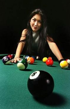 billiards, pool, sports photography, The Black Widow...one of the best billiard players in the World