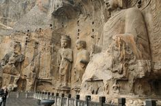 Longmen Grottoes in Henan, China.