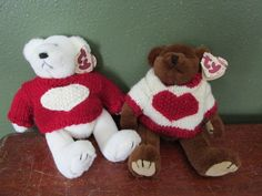 Valentine Beanie Babies 1993 Casanova and Nicholas with Hang Tags by LuRuUniques on Etsy