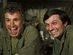 Alan Alda and Wayne Rogers - Hawkeye and Trapper from MASH. I always loved Trapper's smile.