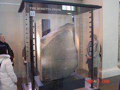 The Rosetta Stone.  British museum, London.