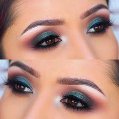 Olive green makeup tutorial : https://youtu.be/JxB08fj-71o #olivegreeb #greeneyeshadow #makeup #eyes