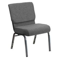 Flash Furniture XU-CH0221 Hercules Series 21 in. Extra Wide Fabric Stacking Church Chair