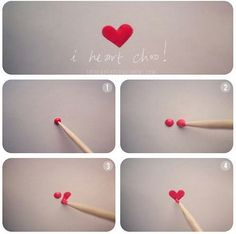 How to Make a Heart With Toothpicks | Simple Nail Art Ideas for Lazy Girls, check it out at http://makeuptutorials.com/lazy-girl-nail-art-hacks/