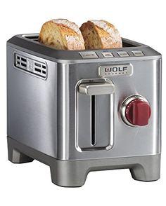 Amazon.com: Wolf Gourmet 2 Slice Toaster (WGTR102S): Kitchen & Dining