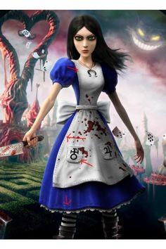 American McGee's Alice Alice Cosplay Costume-6