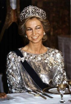 Queen Sofia of Spain in Valentino