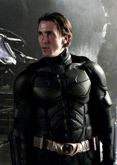 Christian Bale form The Dark Knight series Batman The Dark Knight, The Dark Knight Trilogy, Batman Dark, The Dark Knight Rises, Real Batman, Batman Christian Bale, Batman Et Superman, Batman Robin, Batman Bike