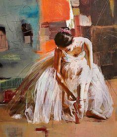 'Ballerina' beautiful painting by Mahnoor Shah Pakistan. Oil. 'Балерина' красивая картина в исполнении Махнур Шах Пакистан. Масло.  #иллюстрация #живопись #искусство #графика #холст #масло #арт #выставки #art #illustration #pencil #artsy #drawing #contemporaryart #draw #oil #sketchbook #graphic #exhibitions #timetoart