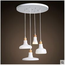 Scandinavian Modern Stylish Living Room Dining LED Lighting Glass Chandelier Creative Simple Lamps White Colour 4 Lamps(China (Mainland))