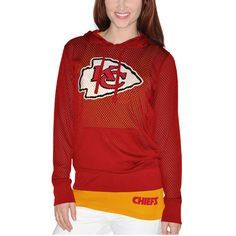 Kansas City Chiefs Women s Holey Hooded T-Shirt   Tank Top Set - Red Team c35f032e8