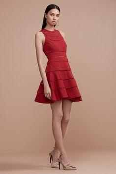 KEEPSAKE HEART BEAT SHORT SLEEVE DRESS red
