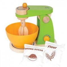Robot de cocina de juguete de madera