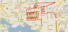 Bikes and maps and art all wrapped in one. US teacher tracks his rides via GPS and creates some interesting sketches at the same time.
