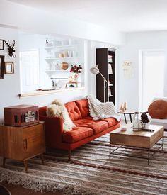 living room, pop of color