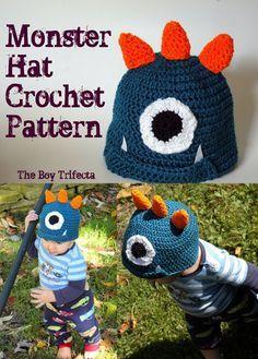Monster crochet hat pattern FREE