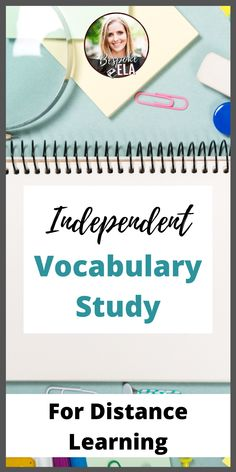 Independent Vocabulary Study for Secondary ELA-- Great for Distance Learning! Vocabulary Instruction, Teaching Vocabulary, Vocabulary Activities, Teaching Materials, Teaching Tools, Teaching Strategies, Teaching Ideas, Writing Workshop, Workshop Ideas