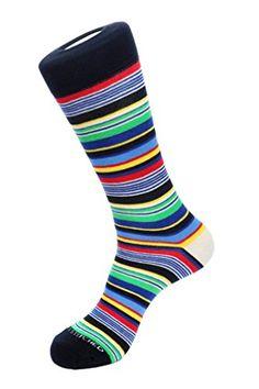 Unsimply Stitched Men s Socks size 8-12 New York Stripe Light Blue Multi at  Amazon Men s Clothing store  e77f90a15b