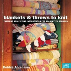 Knitting patterns | blankets to knit | Throws to knit | knitting a blanket |Over 100 different blanket squares can be knitted up to create a dozen unique afghans in a variety of styles.  aff link