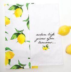 Life Gives You Lemons Tea Towel Set