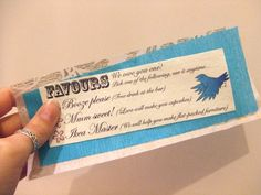 We owe you a favor!: What a great option in place of traditional wedding favors! From Offbeat Bride.