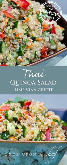 Thai Quinoa Salad with Fresh Herbs and Lime Vinaigrette (Substitute zucchini for the cucumber)