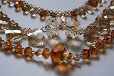 crystal beads by Swarovsky Jewelry Ideas, Diy Jewelry, Beaded Jewelry, Jewelery, Jewelry Making, Crystal Beads, Crystals, Necklaces, Bracelets