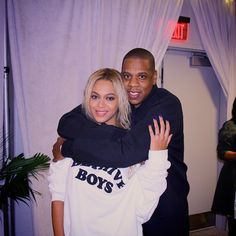 Beyoncé & Jay backstage after her final show of the Formation World Tour at Met Life Stadium in East Rutherford New Jersery 7th October 2016