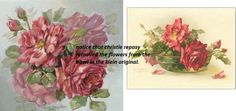 christie repasy's on the left, catherine klein's on the right.  the two main flowers are identical.  the bowl was removed.