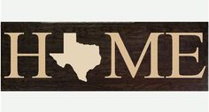 HOME wooden wall hanging sign with State by RachelsVinylCrafts