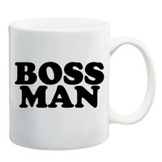 BOSS MAN Coffee Tea Mug Cup 11 ounces Novelty Office Gift Work Humor Handmade #Handmade