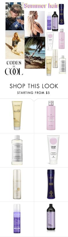 """Becoming a cool(er) blonde"" by confusioninme ❤ liked on Polyvore featuring beauty, John Frieda, Drybar, Christophe Robin, Pureology, Alterna, Revlon and Matrix Biolage"