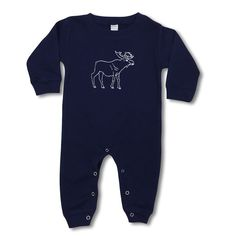 Moose Long Sleeve Infant Romper