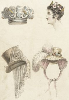 Fashion Plate (Head Dresses) | LACMA Collections November 1823  M.86.266.348