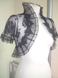 Black Victorian lace shrug
