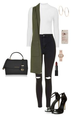 A fashion look from April 2016 featuring sleeveless jackets, high-waisted skinny jeans and high heeled footwear. Browse and shop related looks. Casual School Outfits, Teen Fashion Outfits, Cute Casual Outfits, Stylish Outfits, Girl Outfits, 16th Birthday Outfit, Business Outfits, Nars Cosmetics, Michael Kors