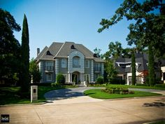 This is a 16th Century French Renaissance style we designed and built in Preston Hollow.