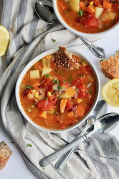 Let's hug over steamy soup and huge hunks ofseedy sourdough! I feel strongly that you're going to be all huggy after this. It's cozy and soul-soothin' and OHMYLANTA it's good for you, too. Has anyone not gotten sick this year yet? Show yourselves!Howwwwww. Whether you've caught the wintery phlegm bug or not, I'm willing to bet that you could use some soupy nourishment with warmbread for sopping up all the vitamins and minerals at the...Read More »