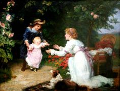 Primeiros Passos - Frederick Morgan e suas pinturas ~ Pintor de cenas da infância