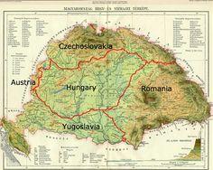 Hungary map Old Maps, Antique Maps, Heart Of Europe, Alternate History, Historical Maps, Austria, Flag, Draco, Language