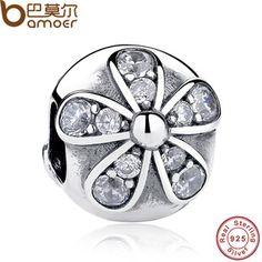 厂家批发纯银diy串珠手链配件 s925纯银珠子 耀眼的雏菊 外贸货源