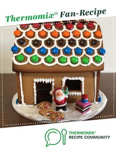 Recipe Gingerbread House by ThermoSweets, learn to make this recipe easily in your kitchen machine and discover other Thermomix recipes in Baking - sweet. Gingerbread Dough, Gingerbread Houses, Pipe Decor, Small Tins, Piping Icing, Golden Syrup, Cake Board, Akita, A Table